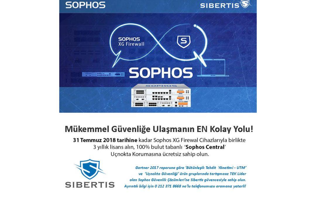 Tüm Sophos Firewall Cihazları 100% Bulut Tabanlı 'Sophos Central' Uçnokta Koruması Hediyeli!